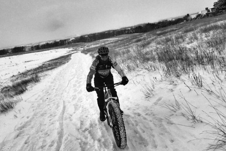 fat biking in the snow