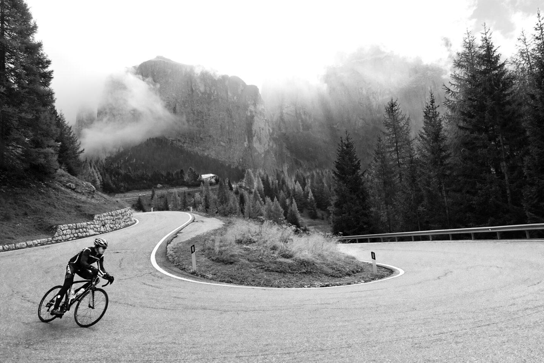 Jim Case descends Passo Sella Dolomites hero image
