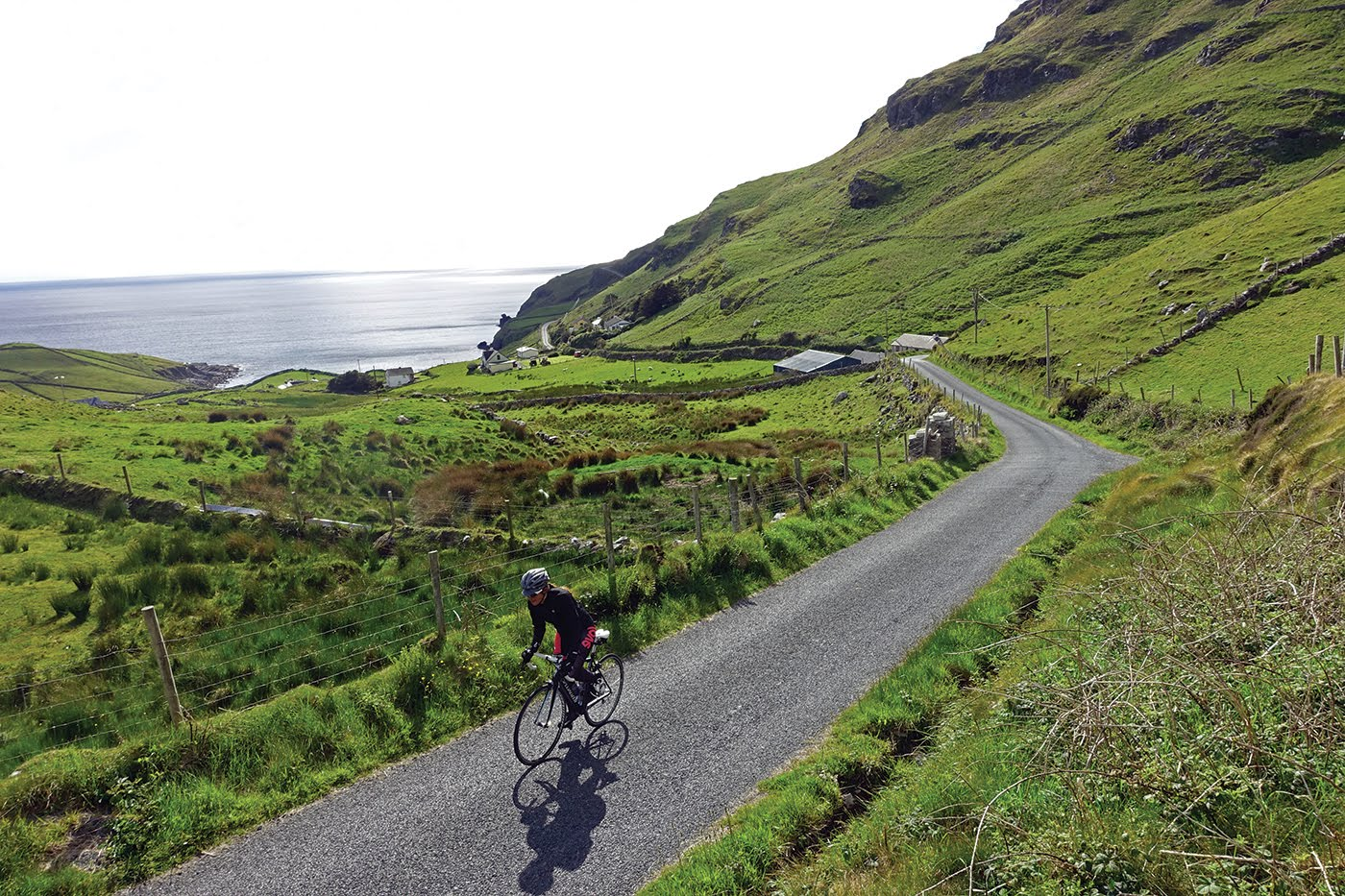 Cyclist in Ireland on the Wild Atlantic Way