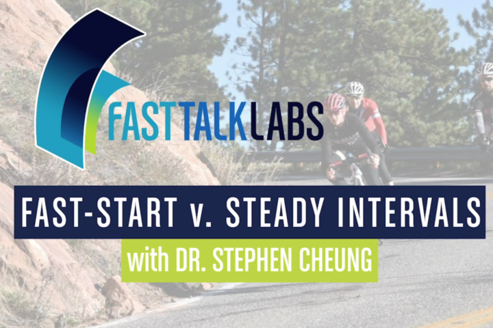 fast-start vs. steady intervals