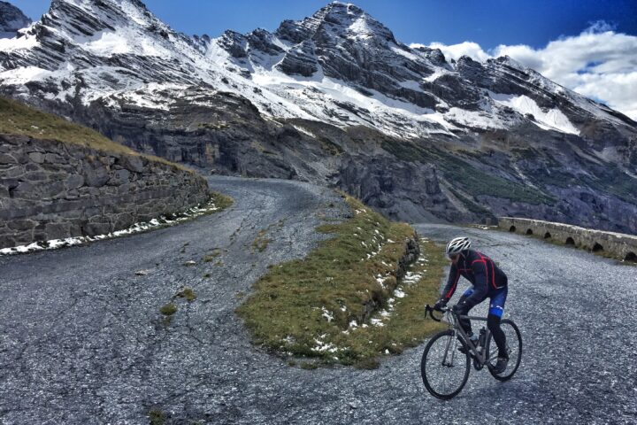 cycling the Old Stelvio Road Jim Case