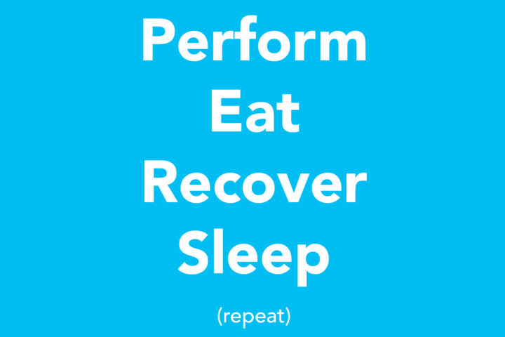 Perform, Eat, Recover, Sleep, Repeat