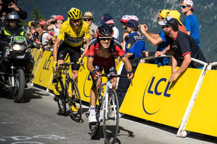 Richie Porte and Chris Froome battle at the Tour de France