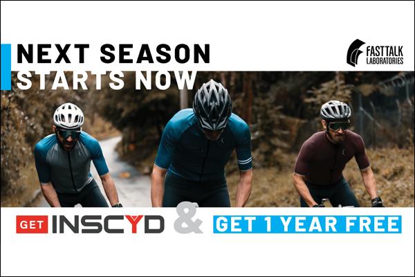 Fast Talk Labs Next Season Starts Now - Get INSCYD Get a Year Free
