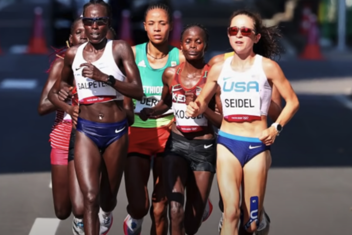 Molly Seidel at the 2020 Tokyo Olympic Games